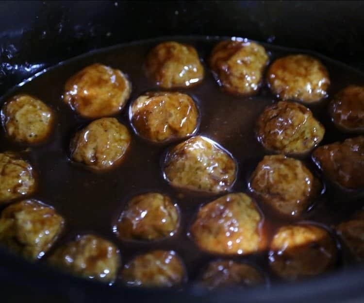 Best Ever Slow Cooker Pineapple BBQ Meatballs