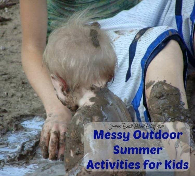 messy outdoor summer activities for kids