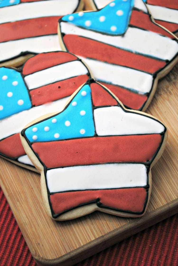 Red White & Blue Sugar Cookies