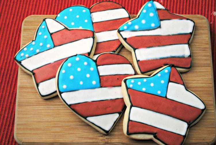 Red White & Blue Sugar Cookies