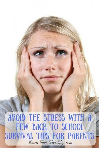 Avoid Back To School Stress With Survival Tips for Parents