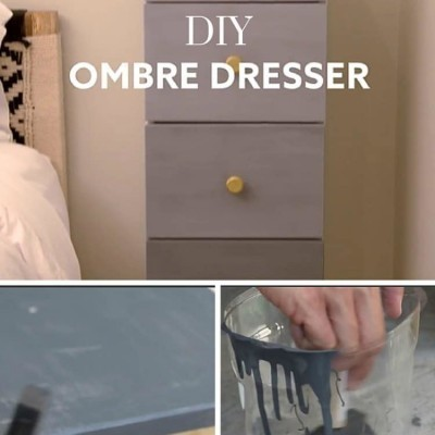 Awesome DIY Ombre Dresser Project