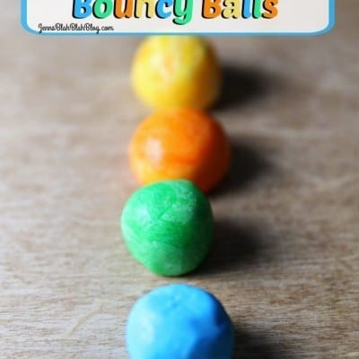 DIY Colored Glow-In-The-Dark Bouncy Balls Science Project