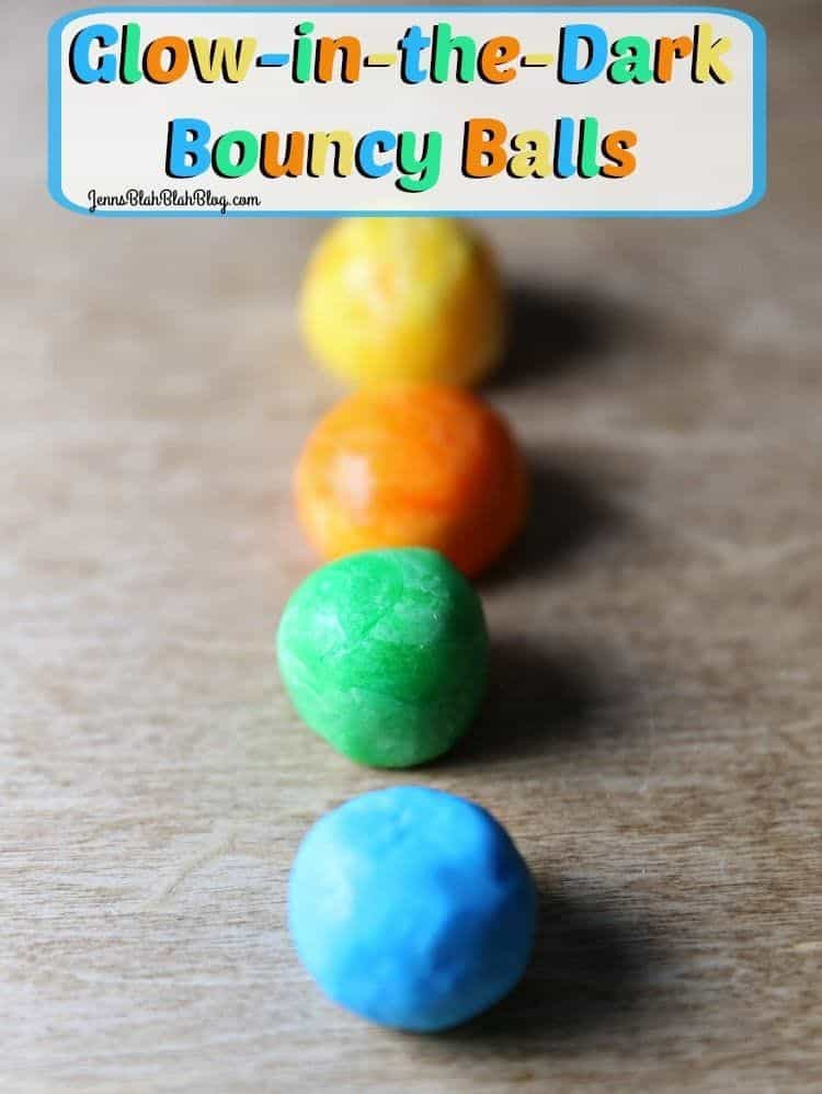 Colored Glow-In-The-Dark Bouncy Balls