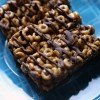 Peanut Buttery Honey Cereal Bars with Dark Chocolate