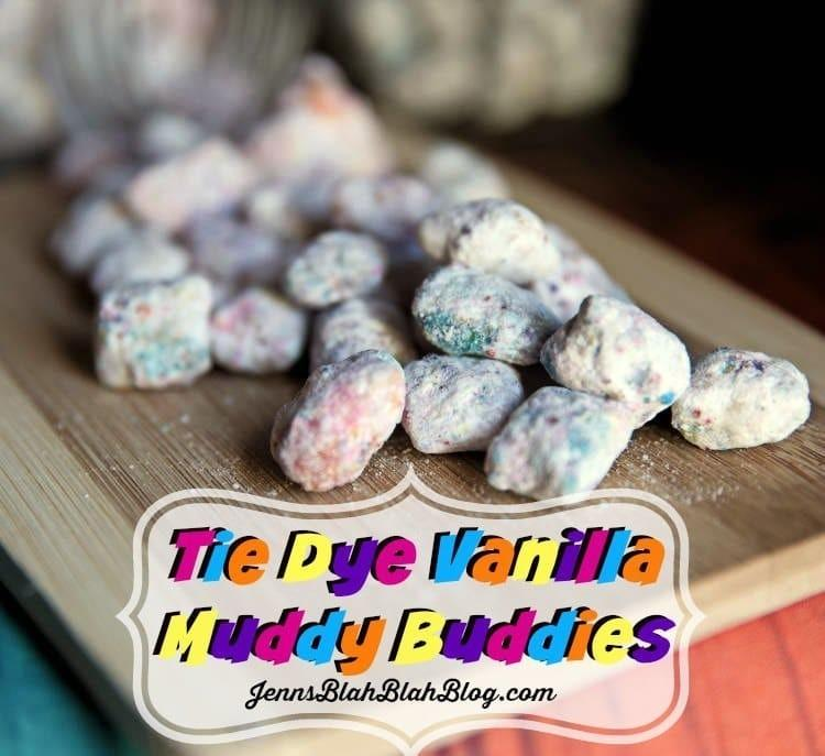 Tie Dye Vanilla Muddy Buddies Recipe
