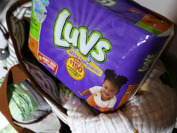 Luvs Diapers In Diaper Bag