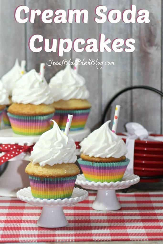Cream Soda Cupcakes Recipe | Jenns Blah Blah Blog @jenblahblahblog