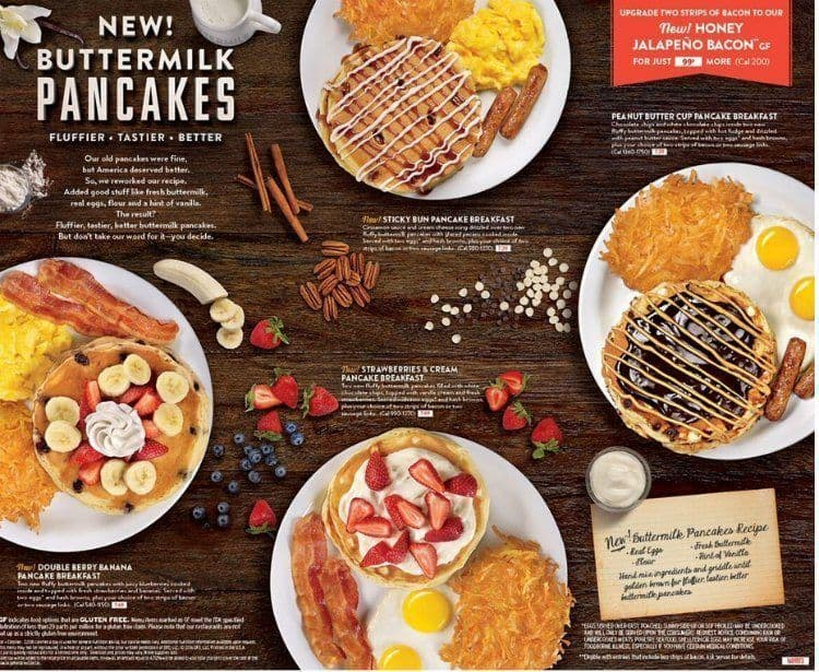 denny's new buttermilk pancake