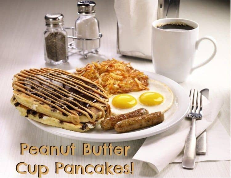 Peanut Butter Cup Pancakes