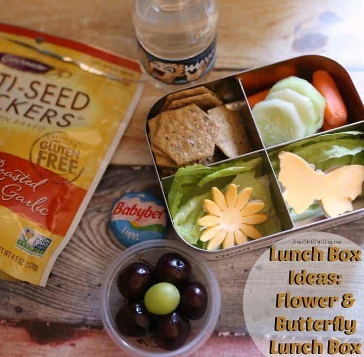Lunch Box Ideas Flower & Butterfly Lunch Box Idea