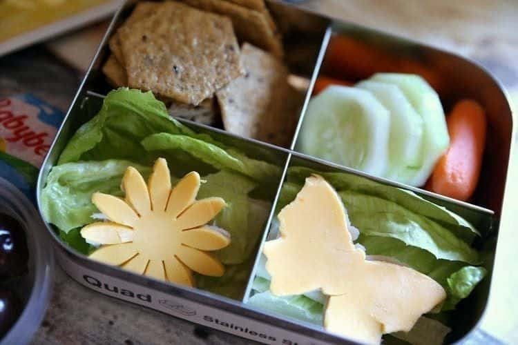 Lunch Box Ideas Flowers and Butterfly