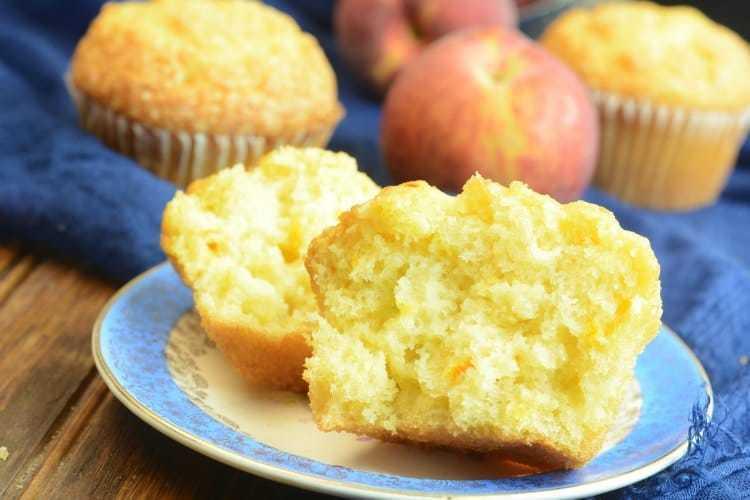 Moist & Delicous Peach Muffins Recipe