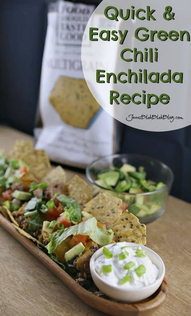 Quick & Easy Green Chili Chip Enchiladas Recipe