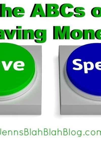 The ABCs of Saving Money