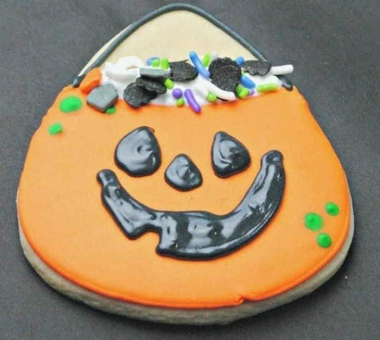 Cute Pumpkin Cookie Bag Cookies 2
