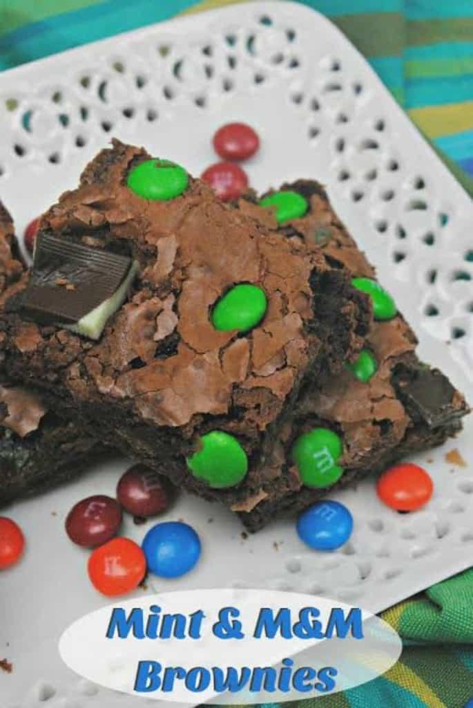 OMG, Loving This Mint & M&M Brownies Recipe