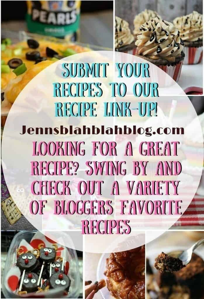 Submit your recipes to our recipe link-up! looking for a great recipe? Swing by and check out a variety of bloggers favorite recipes