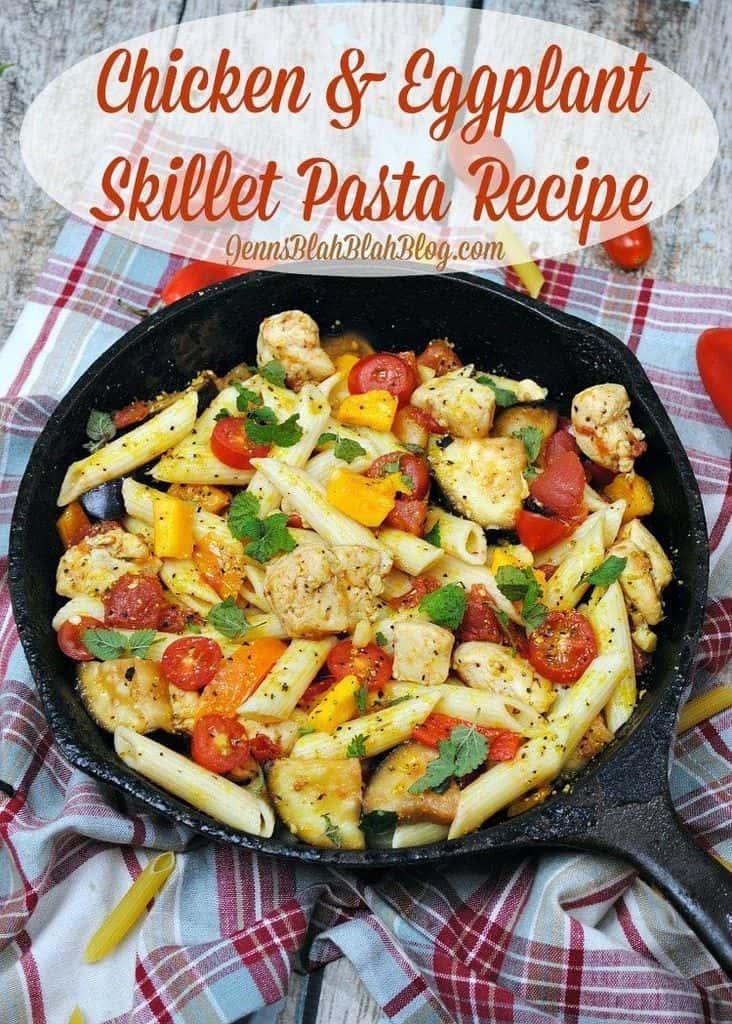 Chicken Eggplant Skillet Pasta Recipe