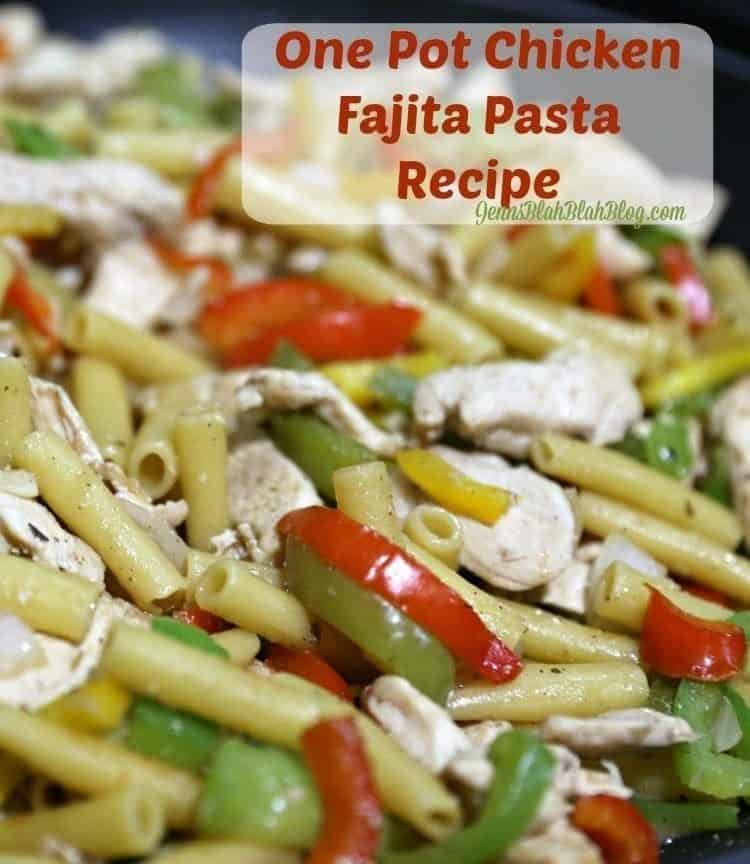 One pot chicken fajita pasta