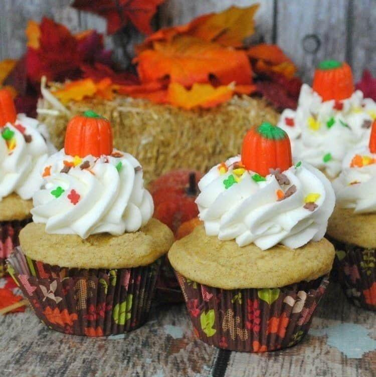 Pumpkin Vanilla Cupcakes Recipe
