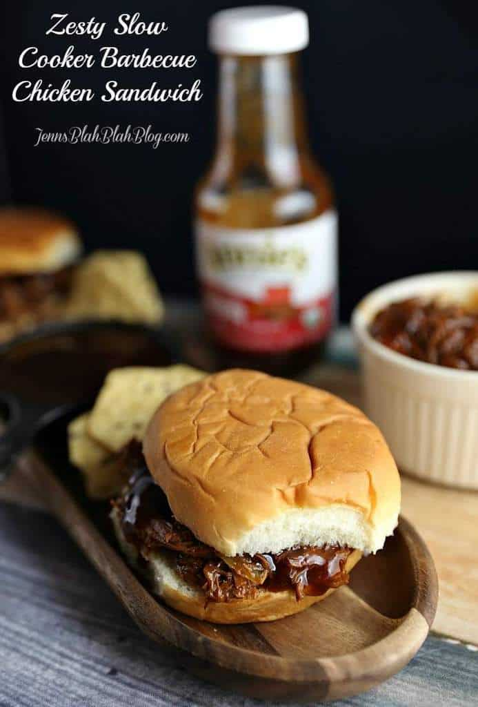 Zesty Slow Cooker Barbecue Chicken Sandwich REcipe