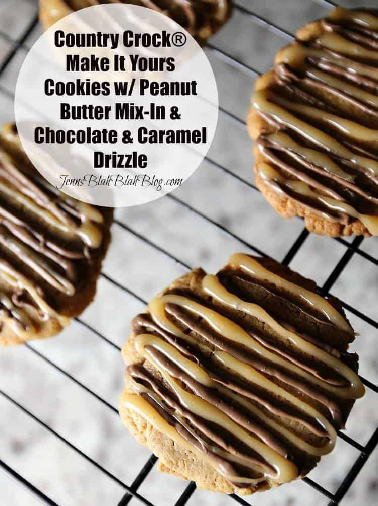Country Crock® Make It Yours™ Cookies w/ Peanut Butter Mix-in & Chocolate & Caramel Drizzle