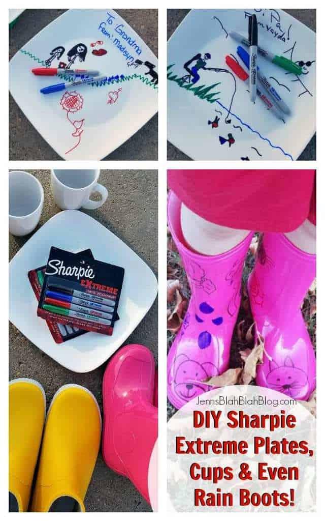 DIY Sharpie Extreme Plates, Cups & Even Rain Boots!