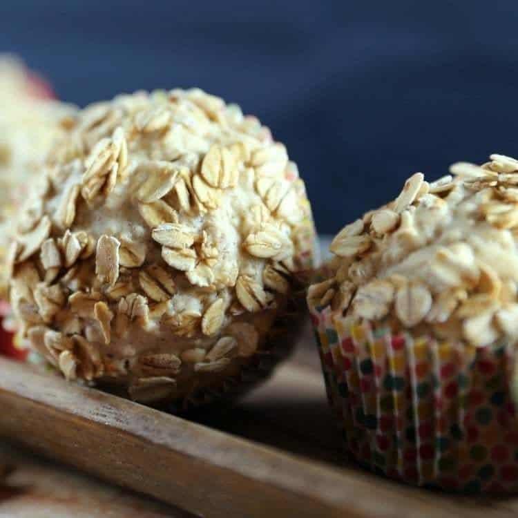 Oat Bran Banana Applesauce Muffins