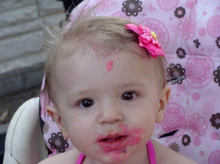 mattie with cake on her face jenn worden