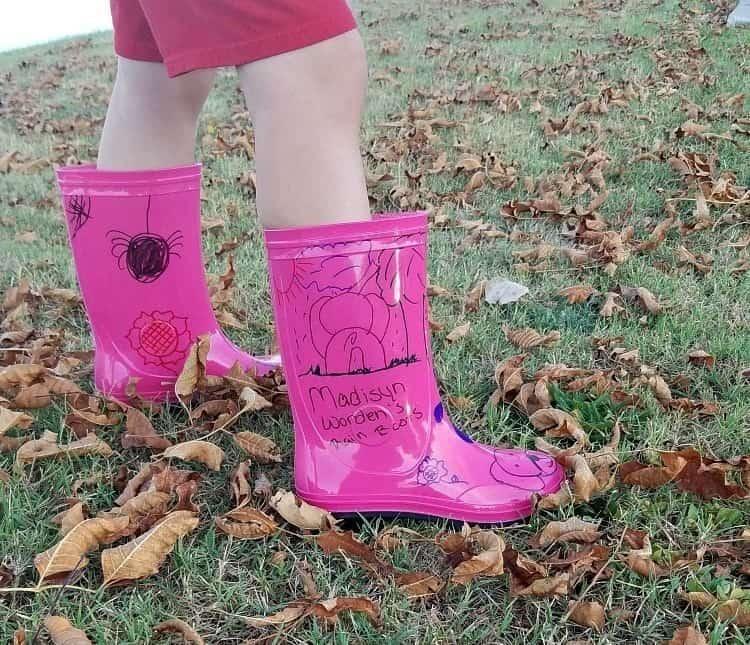 decorating rain boots