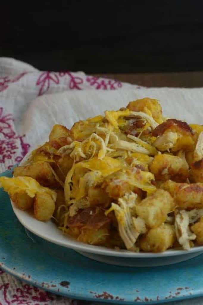 Chicken, Bacon, and Ranch Tots