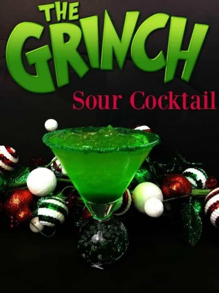 Grinch Sour Cocktail
