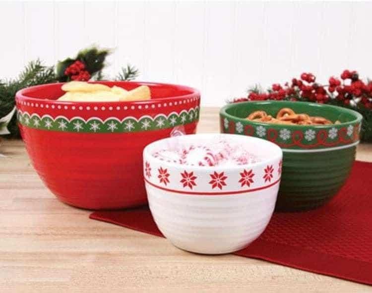 Happy Holidays Nesting Bowls