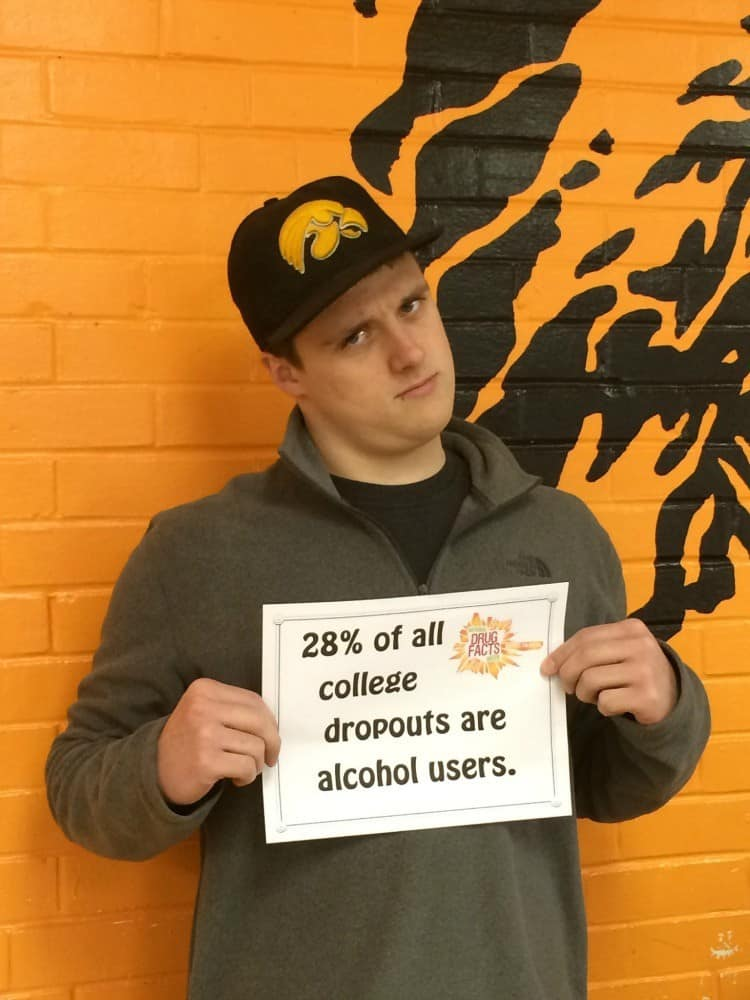 28 percent of college dropouts are alcohol users