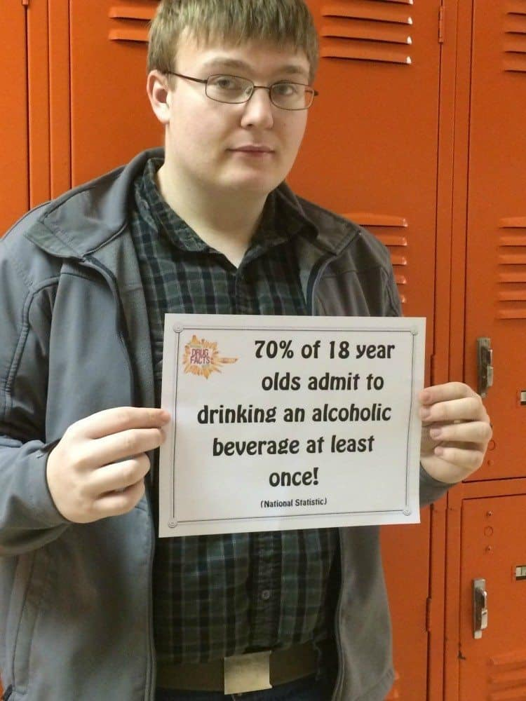 70 percent of 18 year olds admit to drinking an alcoholic beverage at least once