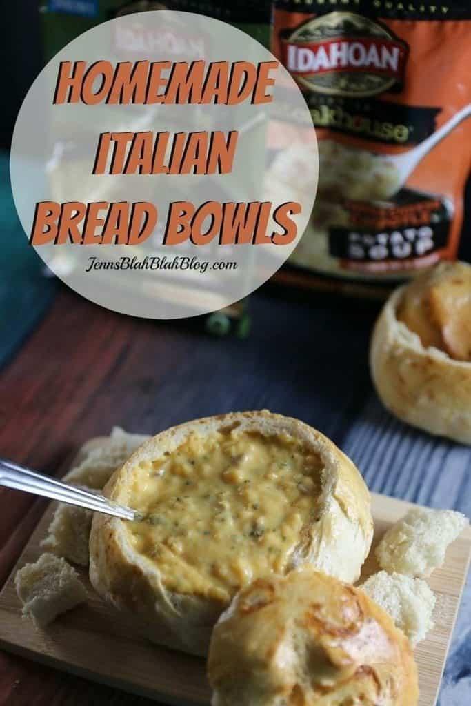 Homemade Italian Bread Bowls Recipe