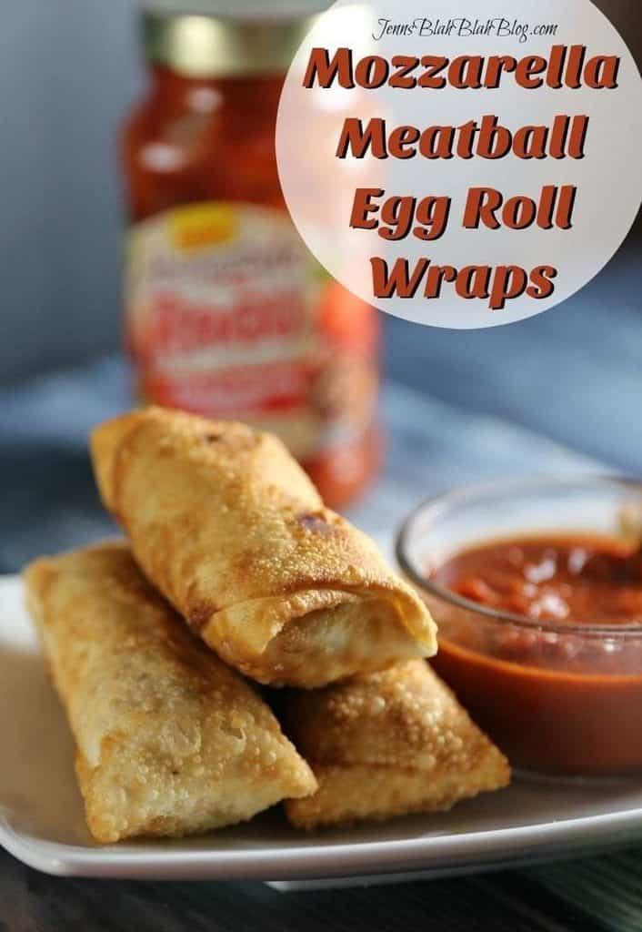 Mozzarella Meatball Egg Roll Wraps 3