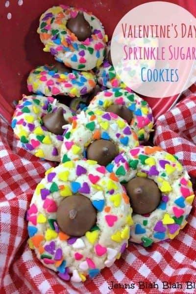 Valentine's Day Sprinkle Sugar Cookies