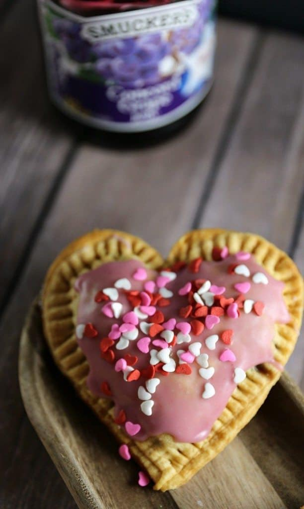 Grape Jelly Pop Tarts with Grape Jelly Frosting for Valentines Day