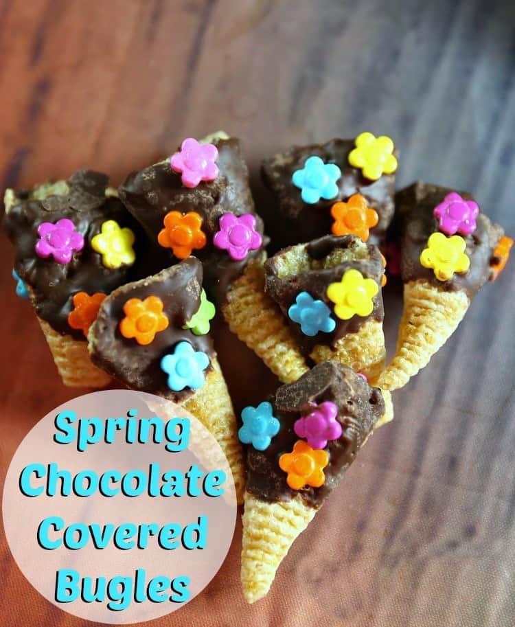 Spring Chocolate Dipped Bugles