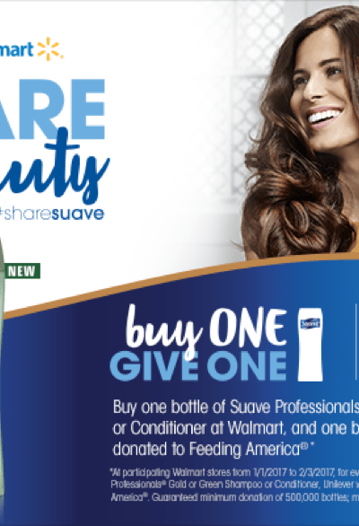 Don't Miss The Share Suave Sweepstakes + Suave's Buy One Give One