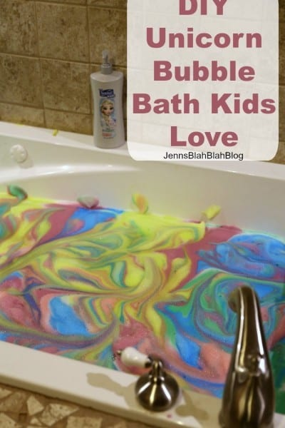 DIY Unicorn Bubble Bath Kids Love
