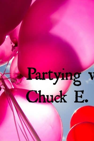Partying with Chuck E. Cheese's