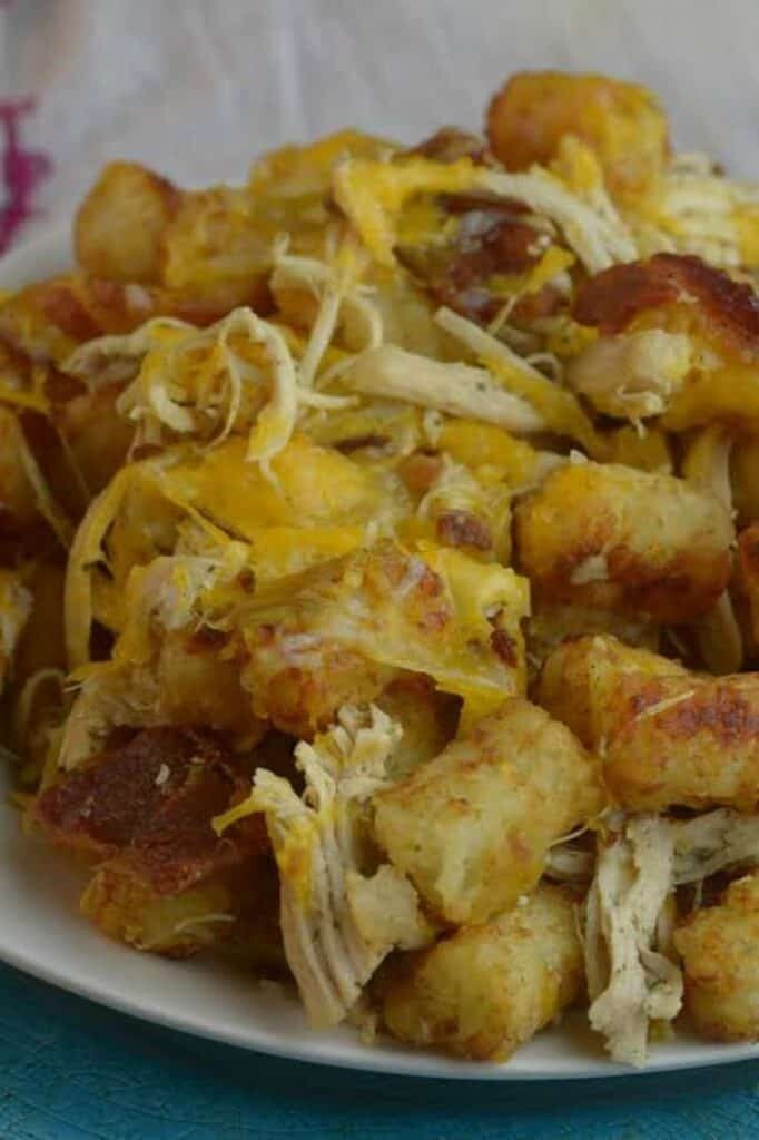 Chicken Bacon Ranch Tater Tots