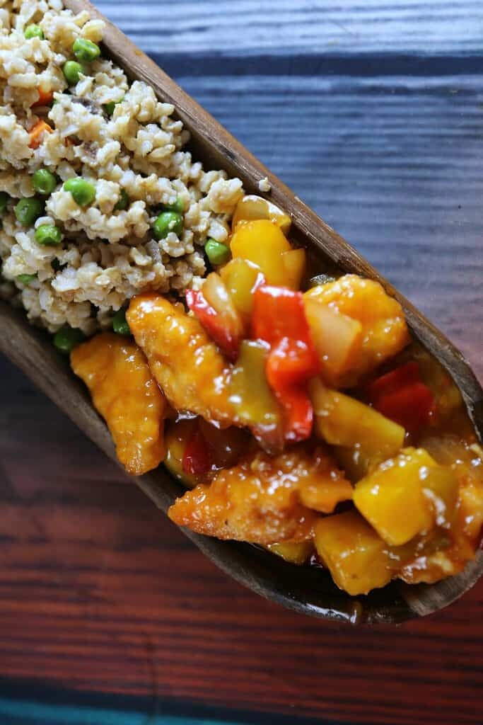 Veggie Lovers Fried Rice Recipe & P.F. Chang's Home Menu Orange Chicken