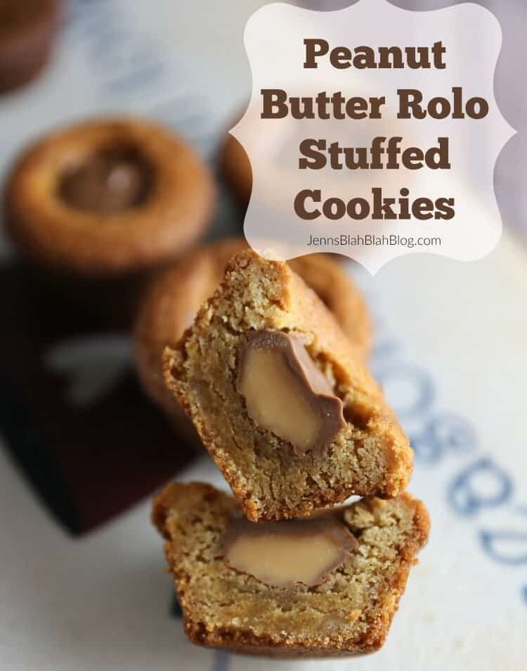 Peanut Butter Rolo Stuffed Cookie Cups