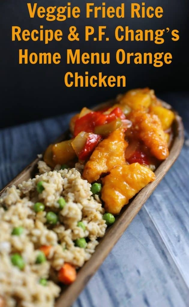 Veggie Lovers Fried Rice Recipe P F Chang S Home Menu Orange Chicken Jenns Blah Blah Blog