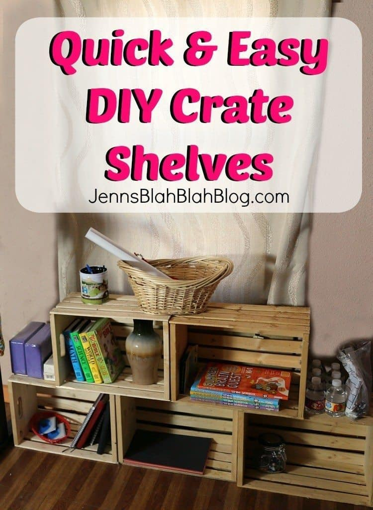 Quick & Easy DIY Crate Shelves