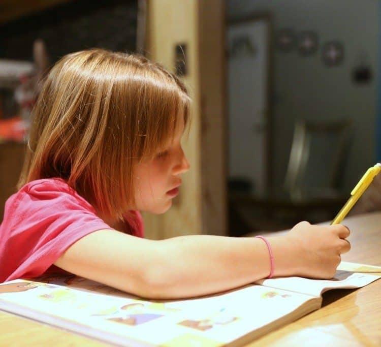 mattie working on brain quest